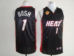 NBA Miami Heat #1 Chris Bosh Black finals kid jerseys