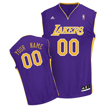 Lakers Personalized Authentic Purple Jersey (S-3XL)