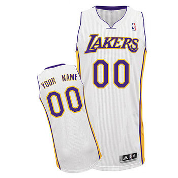 Lakers Personalized Authentic White Jersey (S-3XL)
