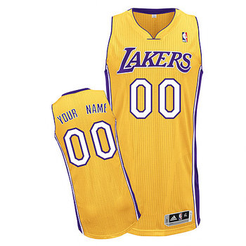 Lakers Personalized Authentic Yellow Jersey (S-3XL)