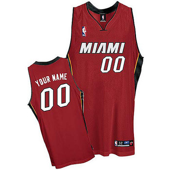 Heats Personalized Authentic Red Jersey (S-3XL)