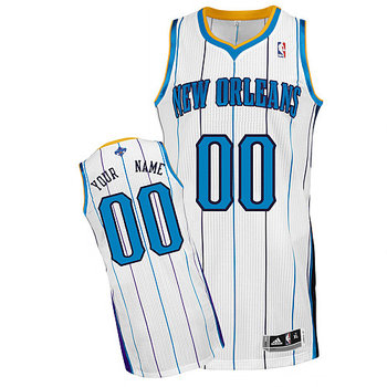 Hornets Personalized Authentic White Jersey (S-3XL)