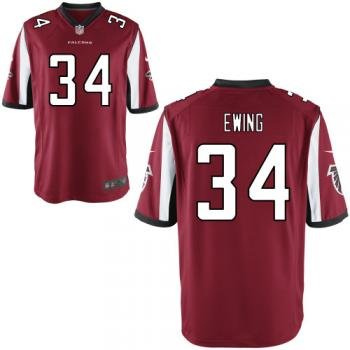 2012 NEW NFL Atlanta Falcons 34 Bradie Ewing Red Jerseys (Elite)