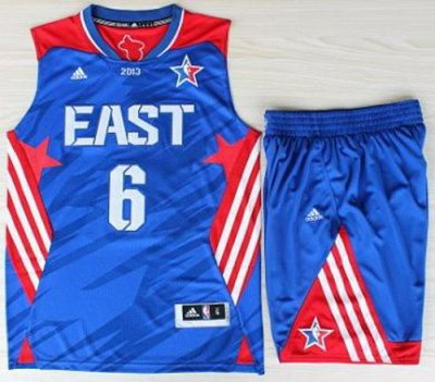 2013 All-Star Eastern Conference Miami Heat 6 LeBron James Blue Revolution 30 Swingman NBA Suits