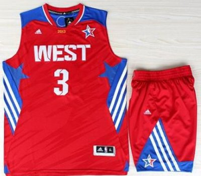 2013 All-Star Western Conference Los Angeles Clippers #3 Chris Paul Red Revolution 30 Swingman NBA Suits