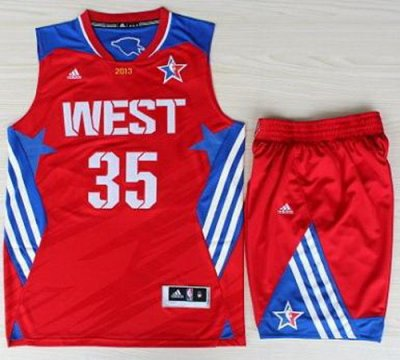 2013 All-Star Western Conference Oklahoma City Thunder 35 Kevin Durant Red Revolution 30 Swingman NBA Suits