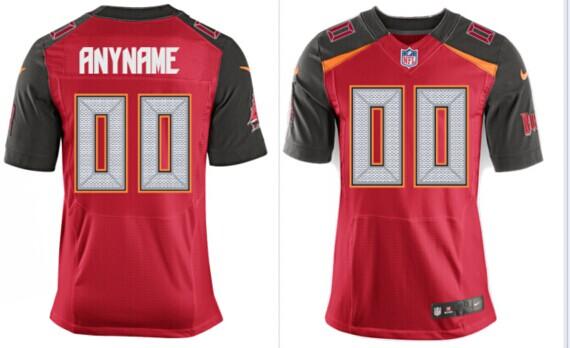 2014 Men New tampa bay buccaneers jersey Customized Red Elite jersey