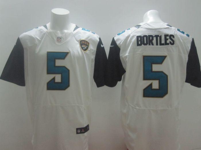 2014 NFL Draft Jacksonville Jaguars #5 Blake Bortles Elite White Jersey