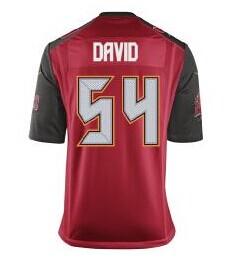 2014 New Tampa Bay Buccaneers #54 Lavonte David Red NFL Elite Jerseys