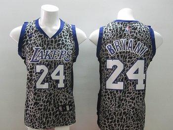 2014 Women NBA los angeles lakers #24 kobe BRYANT Leopard grain fashion jerseys