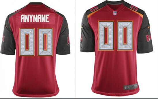 2014 Youth NEW Tampa Bay Buccaneers Customized Red Jerseys