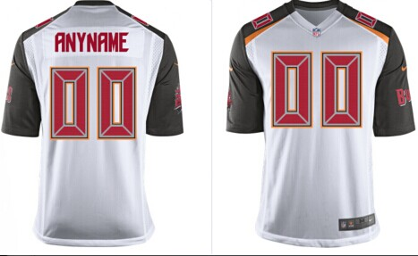 2014 Youth Tampa Bay Buccaneers Customized White Jerseys