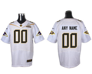 2016 Nike NFL Baltimore Ravens PRO BOWL White Elite Jersey