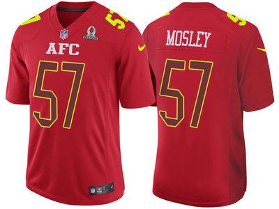 2017 Pro Bowl AFC Baltimore Ravens 57 C.J. Mosley Red Game Jersey