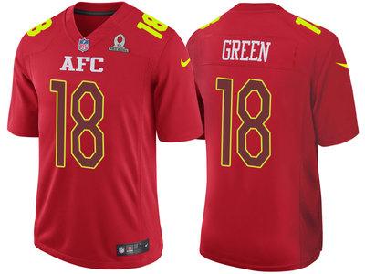 2017 Pro Bowl AFC Cincinnati Bengals 18 A.J. Green Red Game Jersey