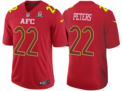 2017 Pro Bowl AFC Kansas City Chiefs 22 Marcus Peters Red Game Jersey