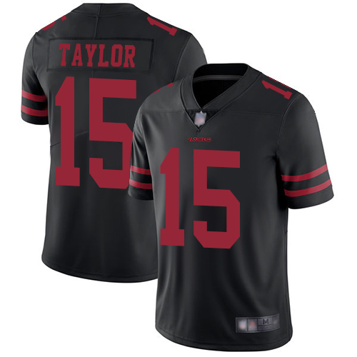 49ers #15 Trent Taylor Black Alternate Men's Stitched Football Vapor Untouchable Limited Jersey