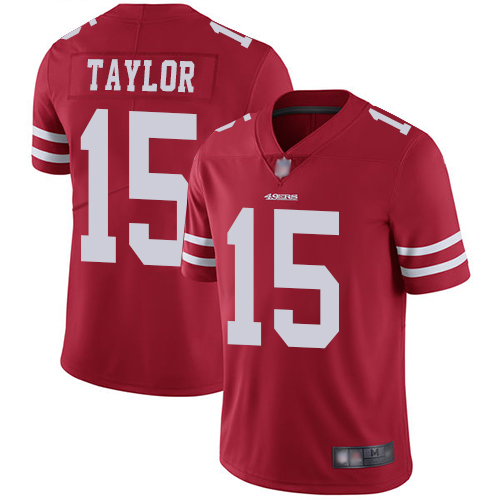 49ers #15 Trent Taylor Red Team Color Men's Stitched Football Vapor Untouchable Limited Jersey