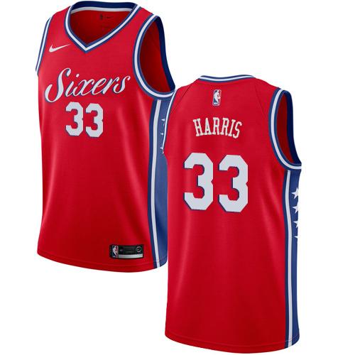 76ers #33 Tobias Harris Red Basketball Swingman Statement Edition Jersey