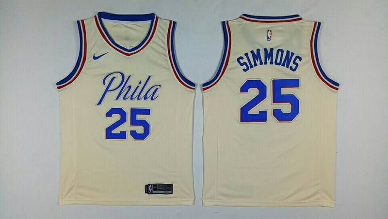 76ers 25 Ben Simmons Cream City Edition Nike Swingman Jersey
