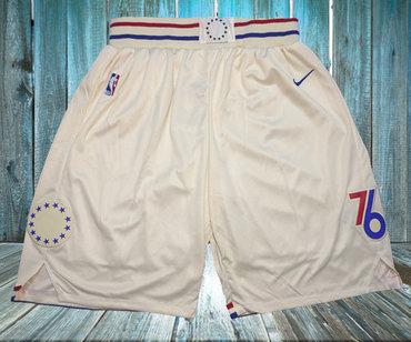 76ers Cream City Edition Nike Swingman Shorts