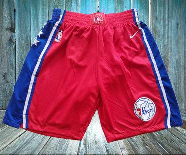 76ers Red Nike Swingman Shorts