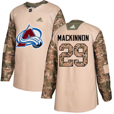 Adidas Avalanche #29 Nathan MacKinnon Camo Authentic 2017 Veterans Day Stitched Youth NHL Jersey