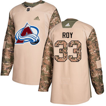Adidas Avalanche #33 Patrick Roy Camo Authentic 2017 Veterans Day Stitched Youth NHL Jersey