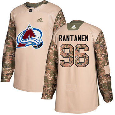 Adidas Avalanche #96 Mikko Rantanen Camo Authentic 2017 Veterans Day Stitched Youth NHL Jersey