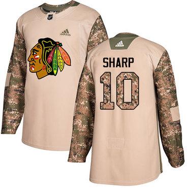 Adidas Blackhawks #10 Patrick Sharp Camo Authentic 2017 Veterans Day Stitched Youth NHL Jersey