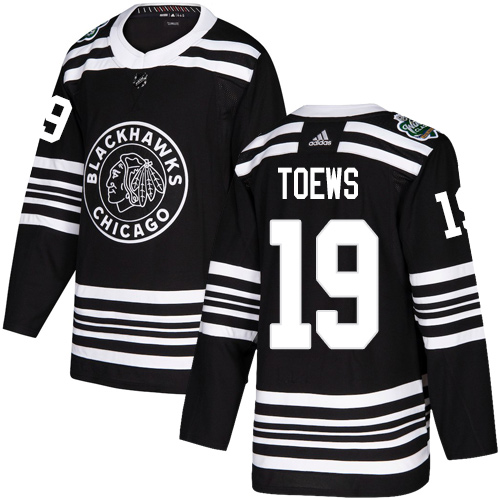 Adidas Blackhawks #19 Jonathan Toews Black Authentic 2019 Winter Classic Stitched NHL Jersey