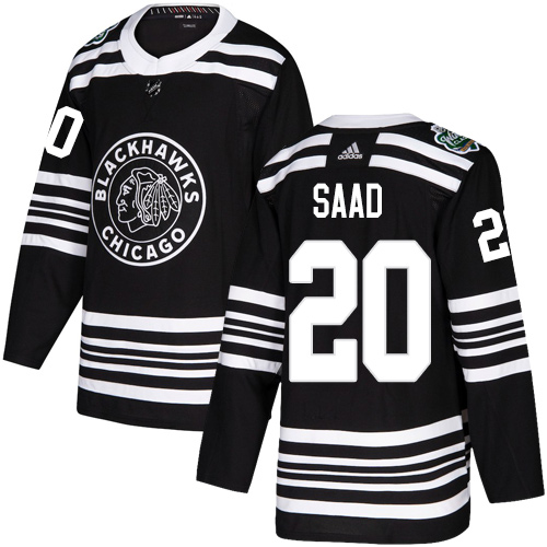 Adidas Blackhawks #20 Brandon Saad Black Authentic 2019 Winter Classic Stitched NHL Jersey