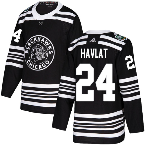 Adidas Blackhawks #24 Martin Havlat Black Authentic 2019 Winter Classic Stitched NHL Jersey