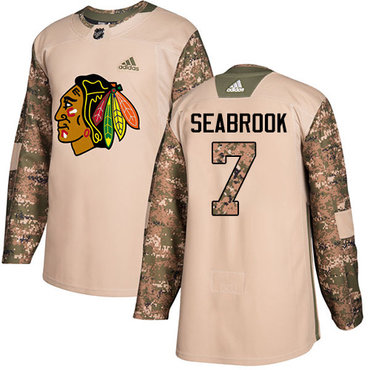 Adidas Blackhawks #7 Brent Seabrook Camo Authentic 2017 Veterans Day Stitched Youth NHL Jersey