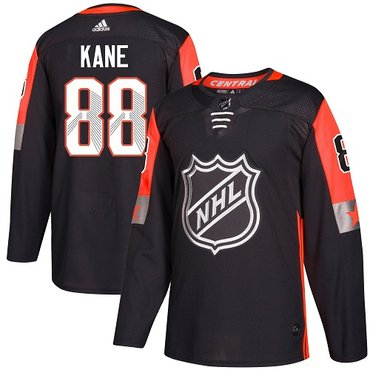 Adidas Blackhawks #88 Patrick Kane Black 2018 All-Star Central Division Authentic Stitched NHL Jersey
