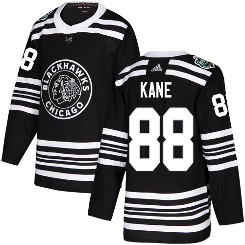 Adidas Blackhawks #88 Patrick Kane Black Authentic 2019 Winter Classic Stitched NHL Jersey