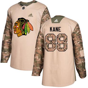 Adidas Blackhawks #88 Patrick Kane Camo Authentic 2017 Veterans Day Stitched Youth NHL Jersey