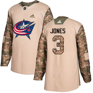 Adidas Blue Jackets #3 Seth Jones Camo Authentic 2017 Veterans Day Stitched Youth NHL Jersey