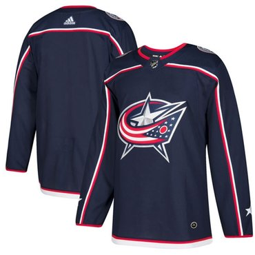 Adidas Blue Jackets Blank Navy Blue Home Authentic Stitched Youth NHL Jersey