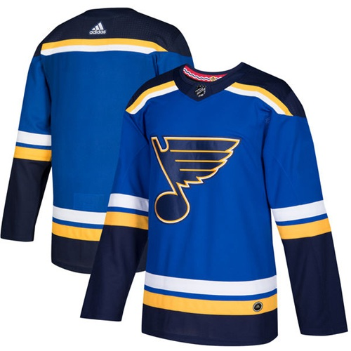 Adidas Blues Blank Blue Home Authentic Stitched Youth NHL Jersey