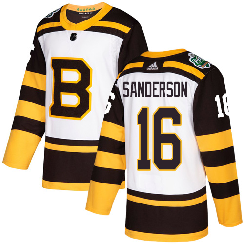 Adidas Bruins #16 Derek Sanderson White Authentic 2019 Winter Classic Stitched NHL Jersey