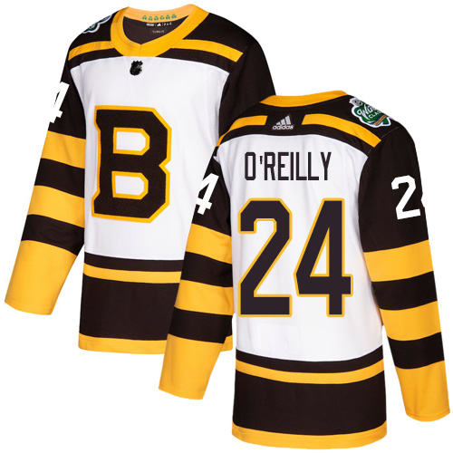 Adidas Bruins #24 Terry O'Reilly White Authentic 2019 Winter Classic Stitched NHL Jersey