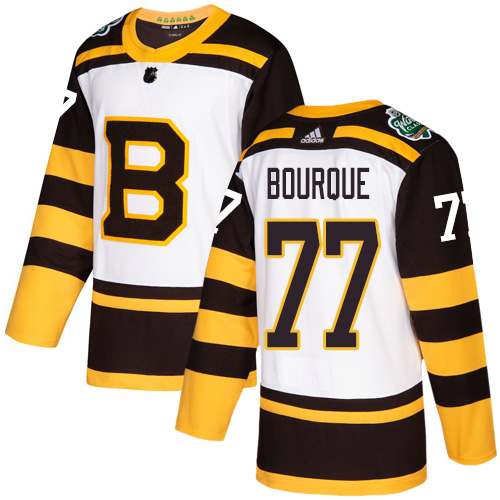 Adidas Bruins #77 Ray Bourque White Authentic 2019 Winter Classic Stitched NHL Jersey