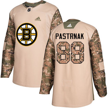 Adidas Bruins #88 David Pastrnak Camo Authentic 2017 Veterans Day Youth Stitched NHL Jersey