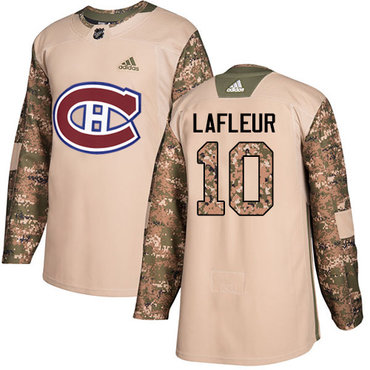 Adidas Canadiens #10 Guy Lafleur Camo Authentic 2017 Veterans Day Stitched Youth NHL Jersey