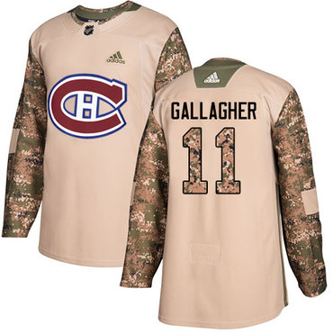 Adidas Canadiens #11 Brendan Gallagher Camo Authentic 2017 Veterans Day Stitched Youth NHL Jersey