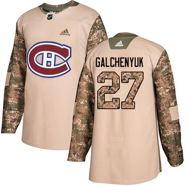 Adidas Canadiens #27 Alex Galchenyuk Camo Authentic 2017 Veterans Day Stitched Youth NHL Jersey