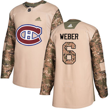 Adidas Canadiens #6 Shea Weber Camo Authentic 2017 Veterans Day Stitched Youth NHL Jersey
