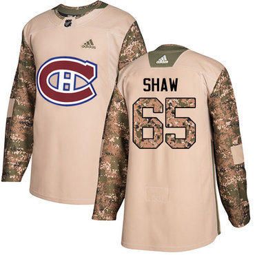 Adidas Canadiens #65 Andrew Shaw Camo Authentic 2017 Veterans Day Stitched Youth NHL Jersey