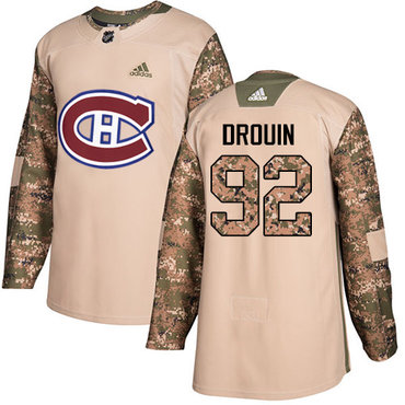 Adidas Canadiens #92 Jonathan Drouin Camo Authentic 2017 Veterans Day Stitched Youth NHL Jersey